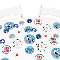Big Dot of Happiness Pawty Like a Puppy - Dog Baby Shower or Birthday Party Giant Circle Confetti - Party Decorations - Large Confetti 27 Count