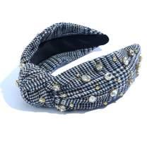 Pearl Jewelled Headband for Women Fashion Girls Lace Knot Luxury Hairband Hair Wedding Alice Band