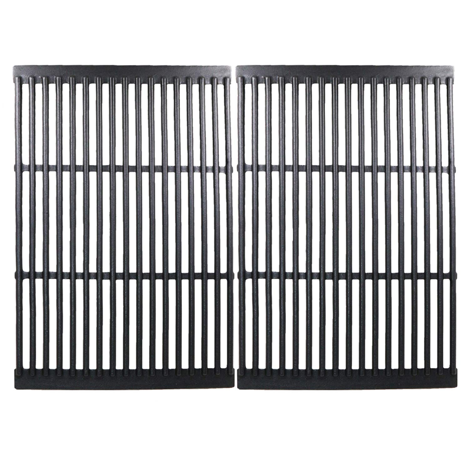 Hisencn Replacement Cast Iron Cooking Grid Porcelain Coated Set of 2 for Gas Grill Models by CharBroil, Brinkmann, Charmglow, Broil-Mate, Grill Pro, Grill Zone, Sterling, Turbo, Grill Chef and Others
