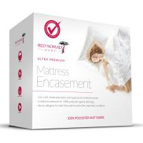 Red Nomad Waterproof Zippered Encasement Medical Grade Bed Bug Proof & Allergy Reduction Mattress Protector – Twin Size