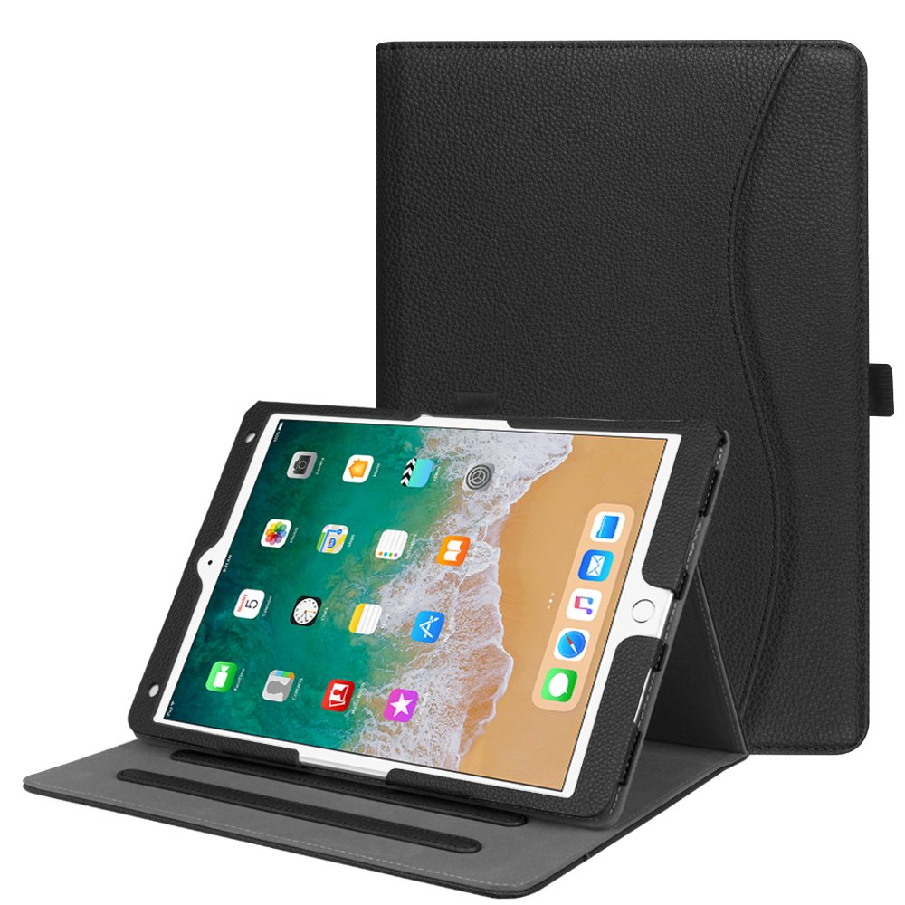 """Fintie Case for iPad Air 10.5"""" (3rd Gen) 2019 / iPad Pro 10.5"""" 2017 - [Corner Protection] Multi-Angle Viewing Folio Stand Cover with Pocket, Pencil Holder, Auto Wake/Sleep, Black"""
