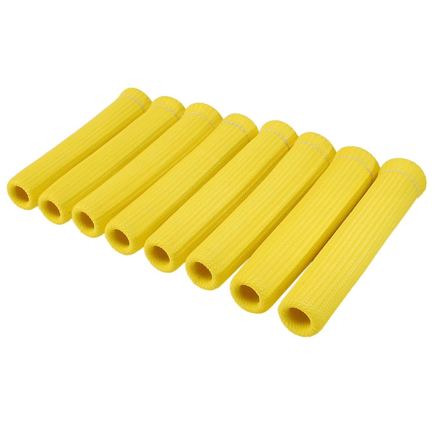 "Design Engineering 010562 Protect-A-Boots Spark Plug Boot Protector Sleeves, 6"" - Yellow (Pack of 8)"