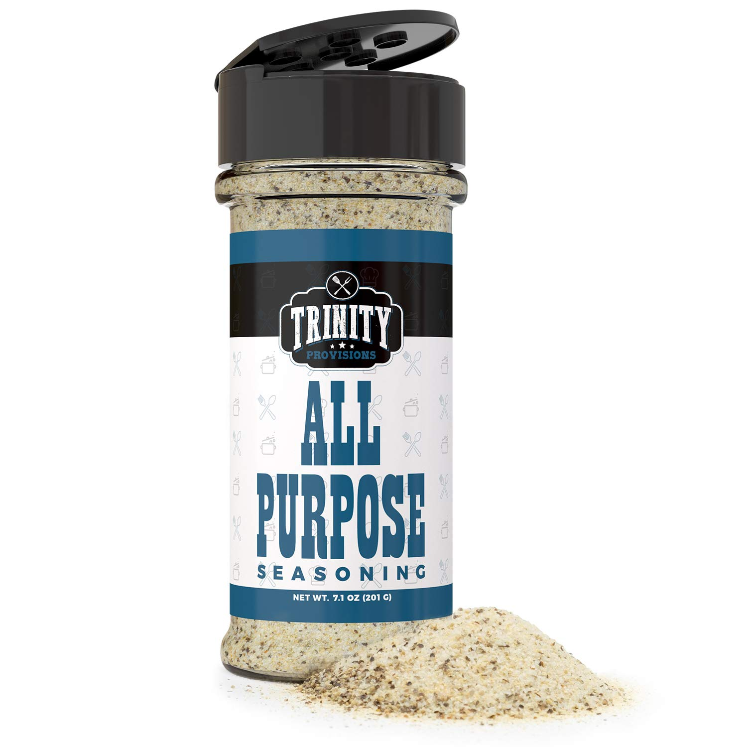 Trinity Provisions All Purpose Seasoning - Salt, Pepper & Garlic Spice Blend for Chicken, Fish, Beef, Veggies, Seafood, Eggs and More - Gluten Free, Non-GMO, and MSG Free