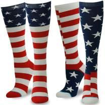 Novelty Funny Socks, Gmall American Flag Chicken Leg Unicorn Casual Over Calf Socks