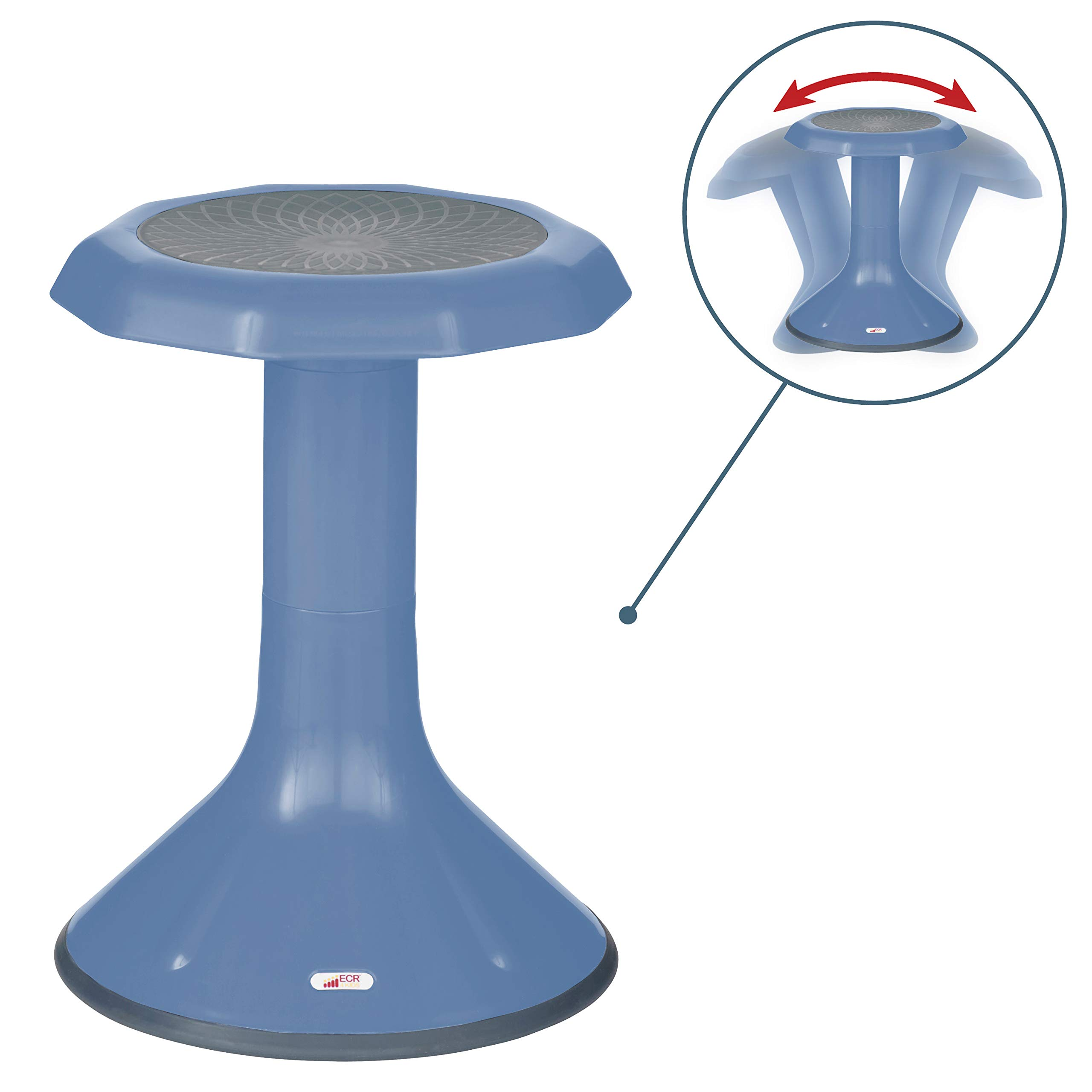"""ECR4Kids ACE Active Core Engagement Wobble Stool for Kids, Flexible Classroom and Home Seating, 18"""", Powder Blue"""