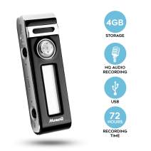 SpyCentre Security Mini Digital Sound Recorder - Voice Activated - 4GB Internal Flash Memory, Pro-Quality Audio Storage