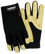 Magid PGP07T Magid Spandex and Leather Work Glove, Black/Beige, X-Large