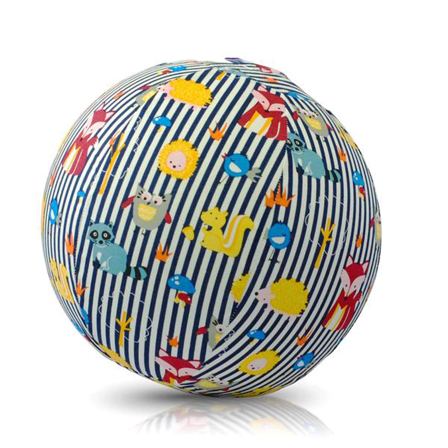 BUBABLOON Sensory Soft Cotton Balloon Cover, Animal Stripes Blue
