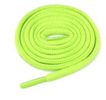 """Oval Athletic Shoelaces 1/4"""" Thick Solid Colors for All Shoes Several Lengths (Lime-27)"""