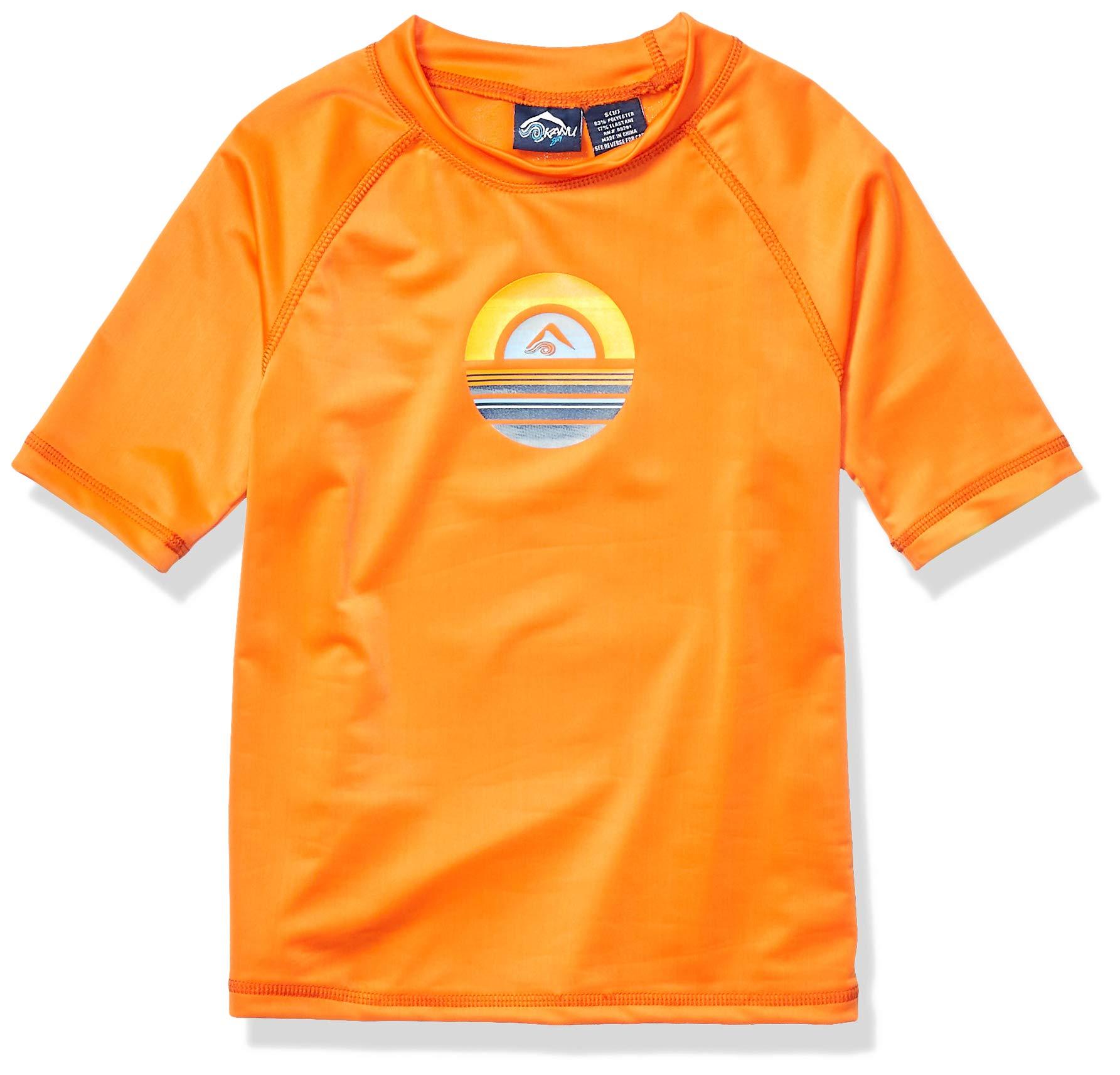 Kanu Surf Boys' Haywire UPF 50+ Sun Protective Rashguard Swim Shirt