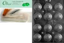 Cybrtrayd Golf Balls 3D Chocolate Candy Mold, Clear, NO: item needs to be boxed by Amazon without additional protection