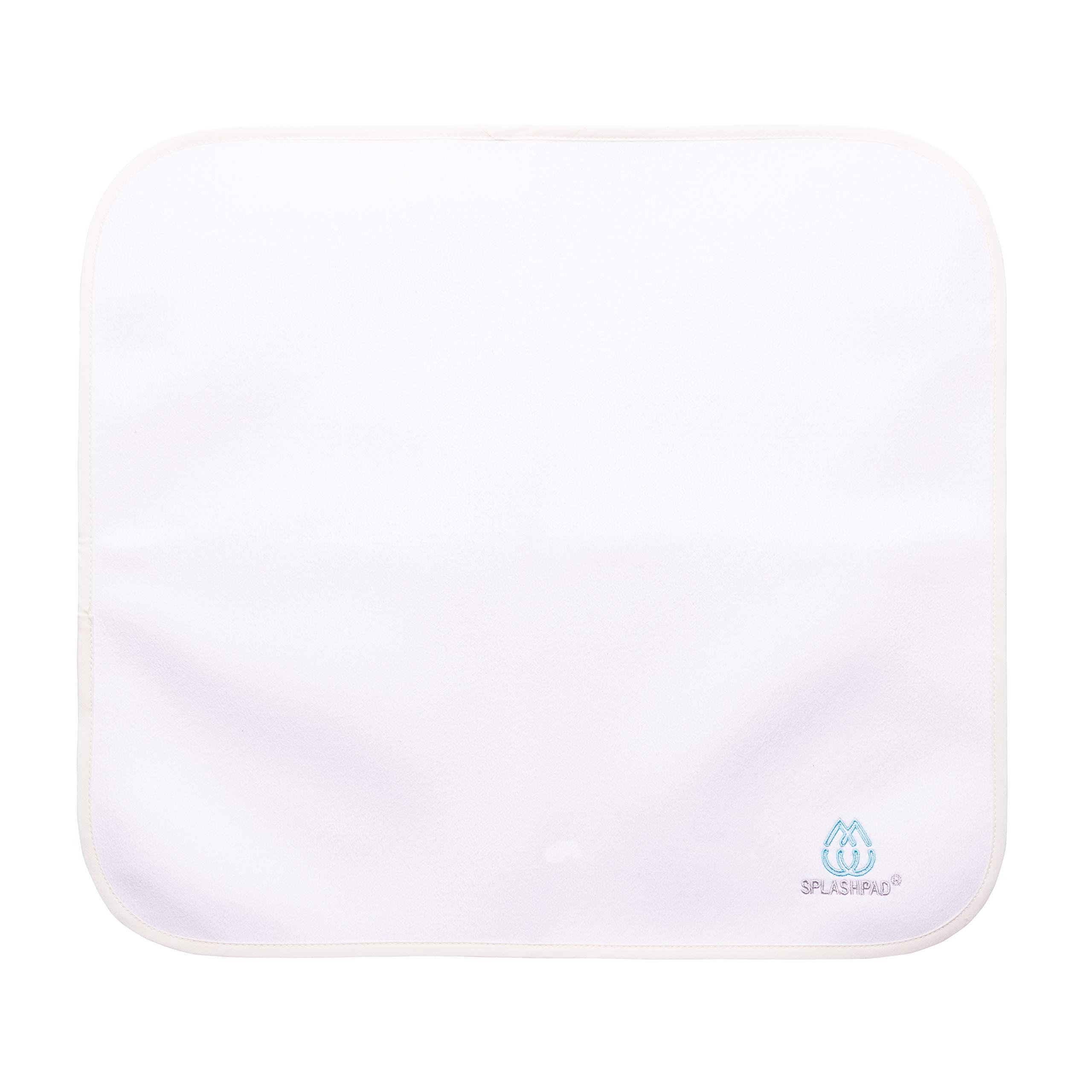 SPLASHPAD Baby - Diaper Changing Mat (16x18 Mat Solid White)