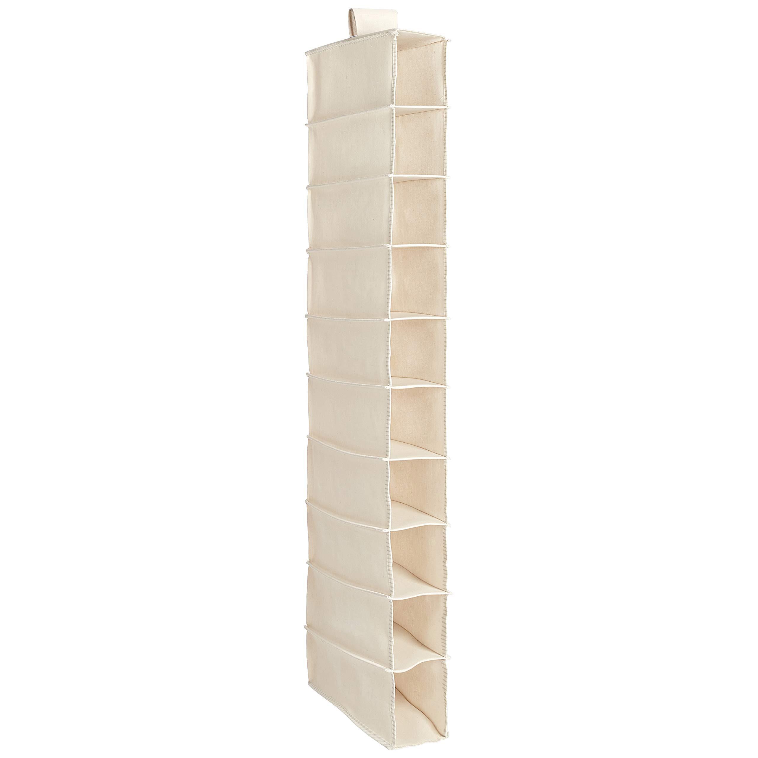 AmazonBasics Hanging Closet Shelf - 10-Tier, Canvas