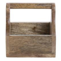 "Hubert Condiment Caddy Mango Wood - 6""L x 5 3/4""W x 6""H"