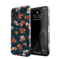 BURGA Phone Case Compatible with iPhone 11 PRO - Red Poppies Flower Bouquet Floral Print Pattern Fashion Designer Cute Case for Women Thin Design Durable Hard Plastic Protective Case
