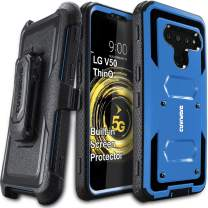 LG V50 / V50 ThinQ 5G Case, COVRWARE [ Aegis Series ] with Built-in [Screen Protector] Heavy Duty Full-Body Rugged Holster Armor Case [Belt Swivel Clip][Kickstand], Blue
