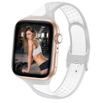 Bandiction Compatible for Apple Watch Bands 38mm 40mm, Soft Silicone Sport Band for iWatch Bands Women Men Sport Strap Replacement Wristband Compatible for iWatch Series 6/SE/5/4/3/2/1, Sport Edition