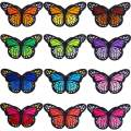 """Hicdaw 36 Pcs 3"""" Big Butterfly Iron on Patches Embroidery Applique Patches for DIY Decor, Jeans, Jackets, Kid's Clothing, Arts Craft Sew Making"""