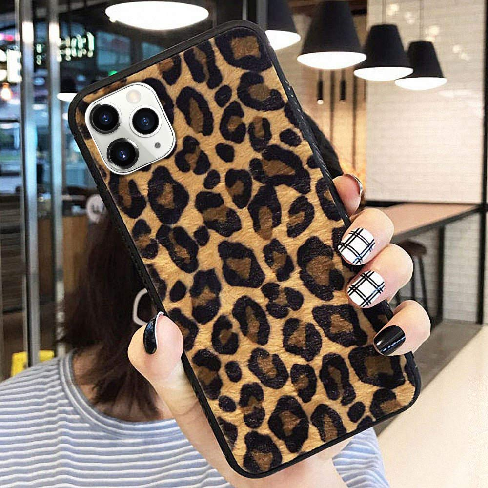 for iPhone 11 Pro Protective Case Super Cute Furry Leopard Print TPU Case Ultra Slim Girls Case Flexible Soft Rubber Shell Shockproof Funcky Back Bumper Case Cover for iPhone 11 Pro Yellow