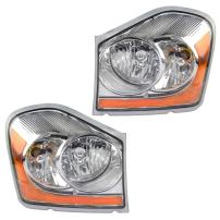Driver and Passenger Halogen Headlights Headlamps Replacement for 04-05 Durango 55077721AD 55077720AD