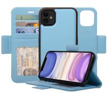 Navor Detachable Magnetic Wallet Case with RFID Protection Compatible for iPhone 11 [6.1 inch] [Vajio Series] - Hot Blue [IP11VJHB]