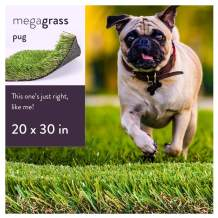 MEGAGRASS Artificial Grass for Dogs Playpen and Potty Training Patch
