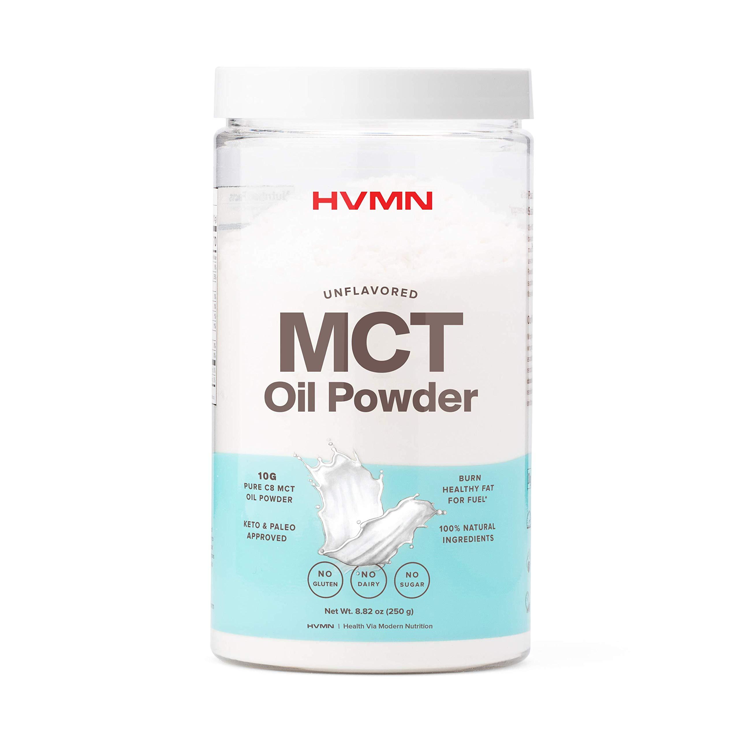 H.V.M.N. MCT Oil Powder - Keto Creamer Powder, for Keto Coffee Creamer, Keto Shake - Pure C8 MCT Oil from Acacia Fiber Powder, MCT Oil Keto Diet Powder - 25 Servings(Unflavored)