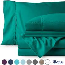 Bare Home 6 Piece 1800 Collection Deep Pocket Bed Sheet Set - Ultra-Soft Hypoallergenic - 2 Extra Pillowcases (King, Emerald)