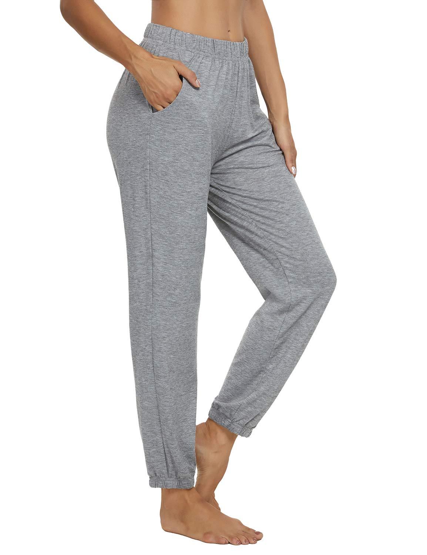 KEEPBEAUTY Womens Active Yoga Sweatpants Loose Workout Joggers Pants Comfy Lounge Pants with Pockets