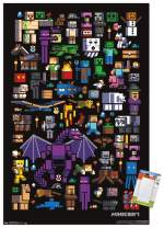 "Trends International Poster Mount Minecraft - Mobbery, 14.725"" x 22.375"", Premium Poster & Mount Bundle"