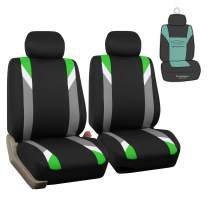 FH Group FB033102 Premium Modernistic Seat Covers Green/Black with Gift - Fit Most Car, Truck, SUV, or Van