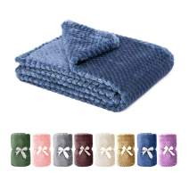 Msicyness Dog Blanket, Premium Fleece Fluffy Throw Blankets Soft and Warm Covers for Pets Dogs Cats(Medium Blue)