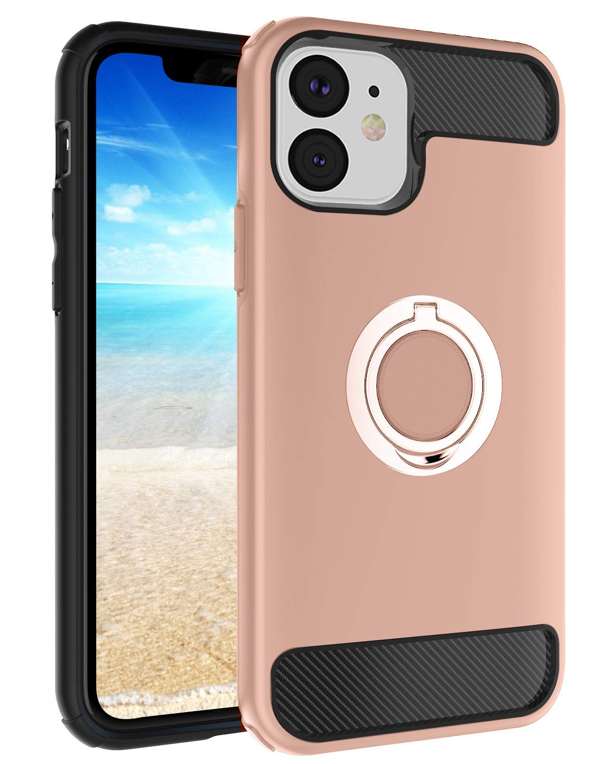 """Lintelek iPhone 11 Series Phone Case, Soft Liquid Silicone iPhone Case, Protective Cover Shockproof Bumper Case for iPhone 11 Pro 5.8"""" (Rose)"""
