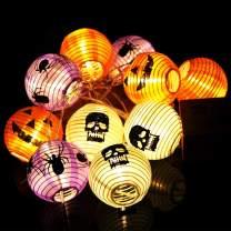 OurWarm Mixed Color Pumpkin Lights Lanterns Halloween String Lights, 10 LED Battery Powered Pumpkin String Lights Detachable 3D Jack o Lantern Decor for Halloween Indoor Outdoor Decorations