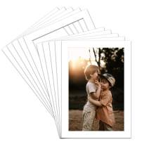 Golden State Art, Acid Free, Pack of 100 5x7 White Picture Mats Mattes with White Core Bevel Cut for 4x6 Photo