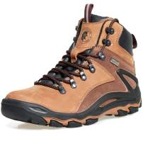 ROCKROOSTER Mens Hiking Boots, Waterproof 6'' Non Slip Outdoor Mountaineeting Shoes, Ankle, Coolmax, Lightweight, Breathable, Anti-Fatigue,KS257 KS258