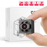 Mini Spy Hidden Camera,1080P Portable Metal Housing HD Nanny Cam with Night Vision and Motion Detective,Perfect Indoor Covert Security Camera for Home and Office(TF Card Included)