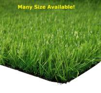 Artificial Grass for Dog, Synturfmats Indoor/Outdoor Green 4'x8' Decorative Synthetic Turf Runner Rugs with Drainage Holes