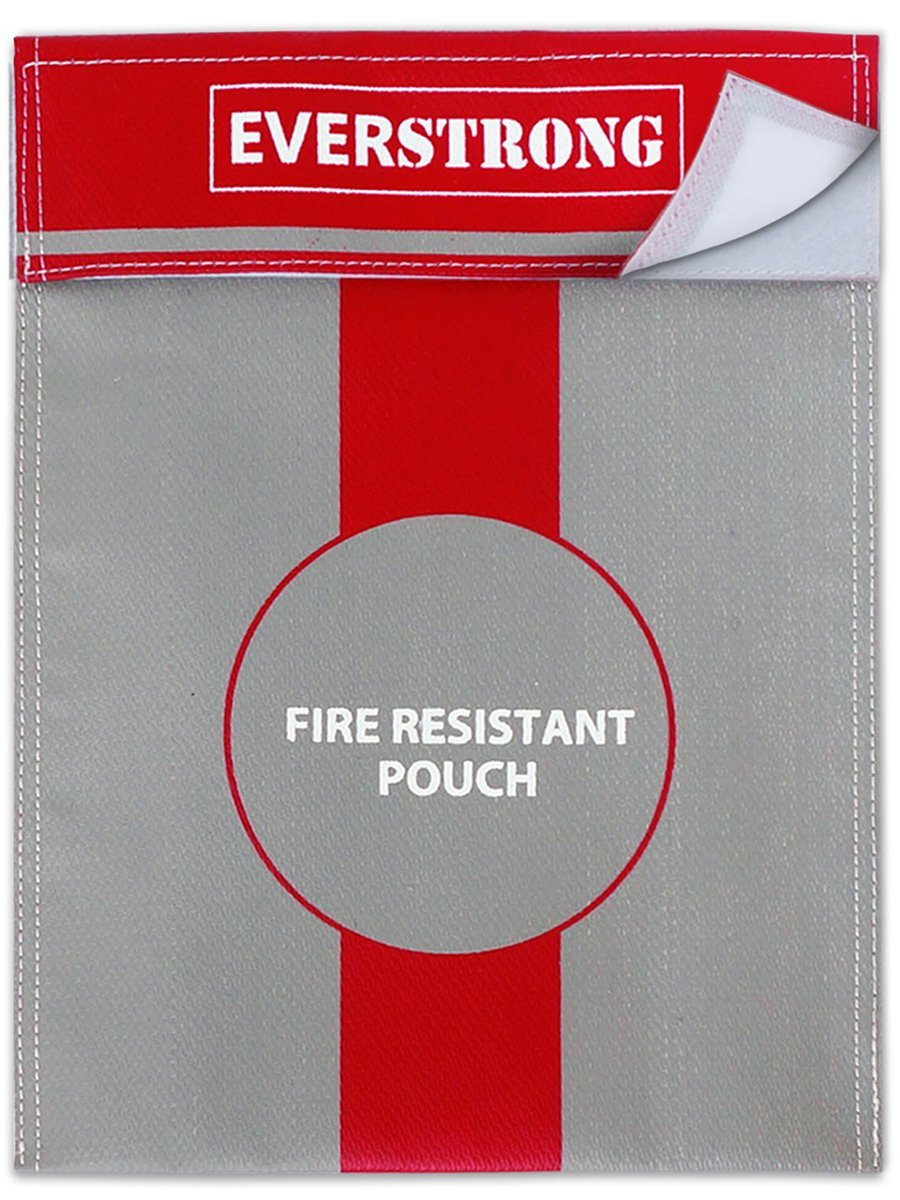 Fire Safe Box Accessory   15x11 Inch Non-Itchy Fireproof Bag for Money, Passport, Jewelry and Important Documents in Fireproof Safe, Fireproof Box, or Fireproof Safe   Fire Proof Case
