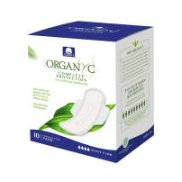 Organyc 100% Certified Organic Cotton Feminine Pads, Heavy Flow, 10 Count