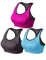 Match Women Wirefree Padded Racerback Sports Bra for Yoga Workout Gym Activewear #001