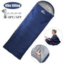 Lightweight and Warm for Camping and Home Use Size fits Adult Multi Season Comfort for Indoor /& Outdoor Use and Kids Youth BLACKDEER Harmony Sleeping Bag