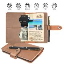 """Leather Journal Cover for Field Notes,Vintage Handmade Leather field notes for 3.5"""" x 5.5"""", Field Note Pen Included, Gift for Men Women"""