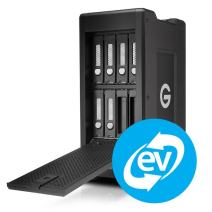 G-Technology 72TB G-SPEED Shuttle XL Thunderbolt 3 with ev Series Bay Adapters Storage Solution - Transportable, hardware RAID, 8-Bay - 0G05957-1
