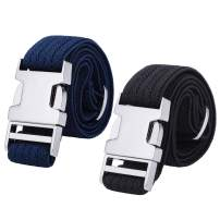 2PCS Children Boys Zinc Alloy Belts - Easy Clasp Adjustable Buckle Belt for Toddlers Boys Girls