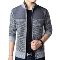 XinYangNi Men's Quilted Nylon Full Zip Sweater
