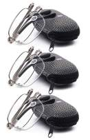 VEVESMUNDO Compact Metal Reading Glasses Men Women Folding Mini Reader Small Case