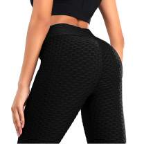 Scrunch Butt Leggings for Women Booty Lift Anti Cellulite Ruched Textured High Waisted Workout Yoga Pants
