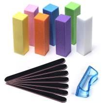 Modelones Professional Nail Files and Buffer Shiner Polisher Manicure Tools Kit Art Supplies Pedicure 100/180 Grit & Buffers Brush 15Pcs/Pack