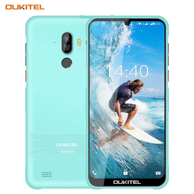 Y1000 Unlocked Android Phones Waterproof IP68 3G Smartphones 6 Inch Waterdrop Display 2GB+32GB Cell Phones Unlocked (Light Blue, IP68) (Light Blue)